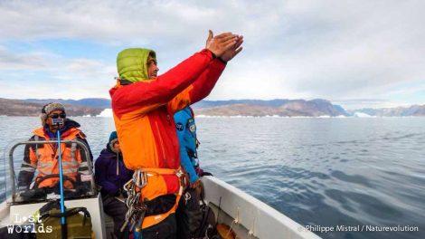 Il faut que l'iceberg fasse entre 50 et 100 mètres pour pouvoir développer la ligne de capteurs (Photo Philippe Mistral / Naturevolution)