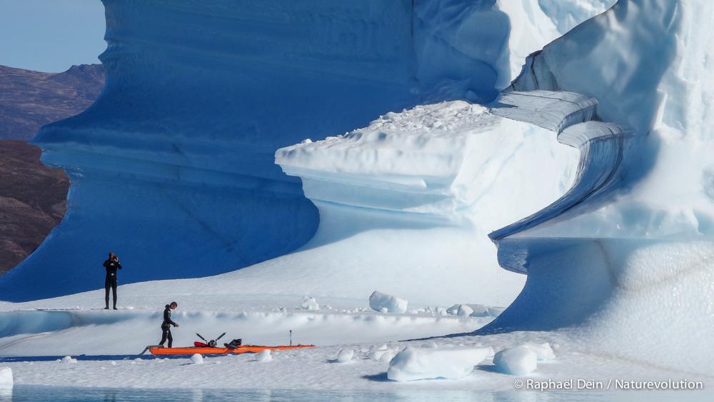 Au plus près de la glace.