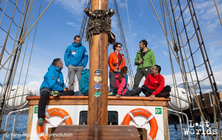 The team onboard the Donna Wood sails from Iceland.