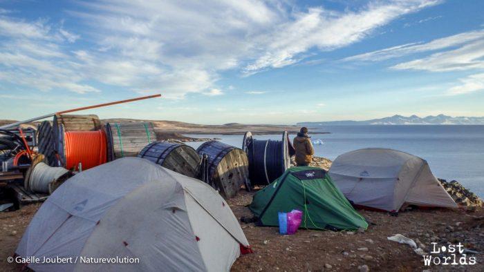 Le dernier campement de l'équipe à Ittoqqortoormiit avant le départ